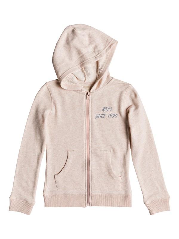 0 Girl's 7-14 Last Smile Wavey Mountain Hoodie Pink ERGFT03308 Roxy