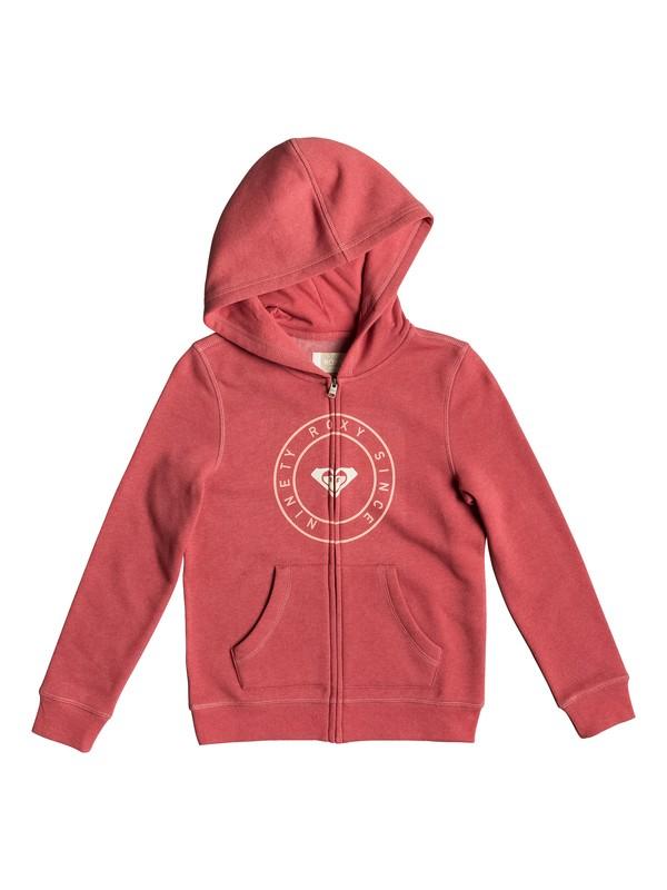0 Girl Plans Pirate Type - Sweat à capuche zippé pour Fille 8-16 ans Rose ERGFT03310 Roxy