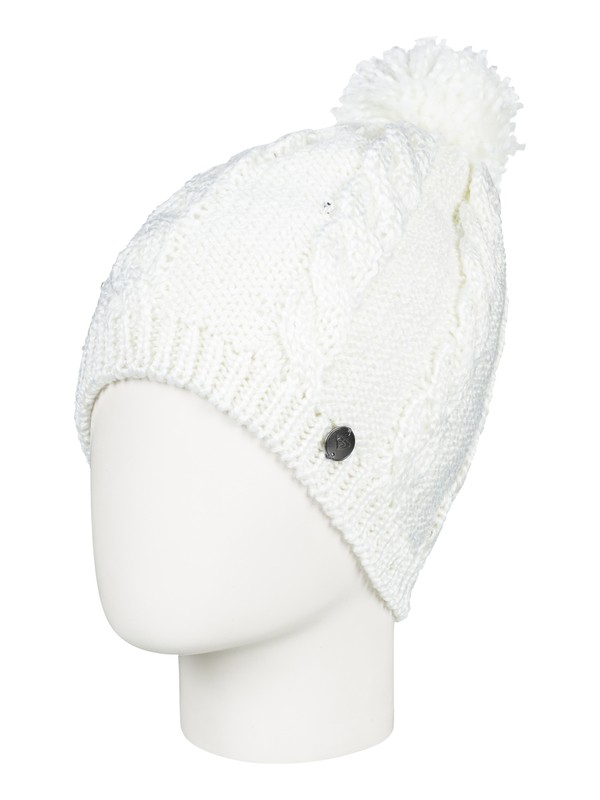 0 Girl's 7-14 Shooting Star Pom-Pom Beanie White ERGHA03108 Roxy