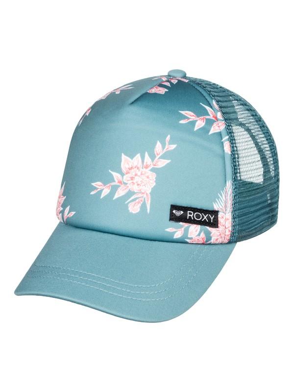 0 Girl's 7-14 Just Ok Trucker Hat Blue ERGHA03140 Roxy
