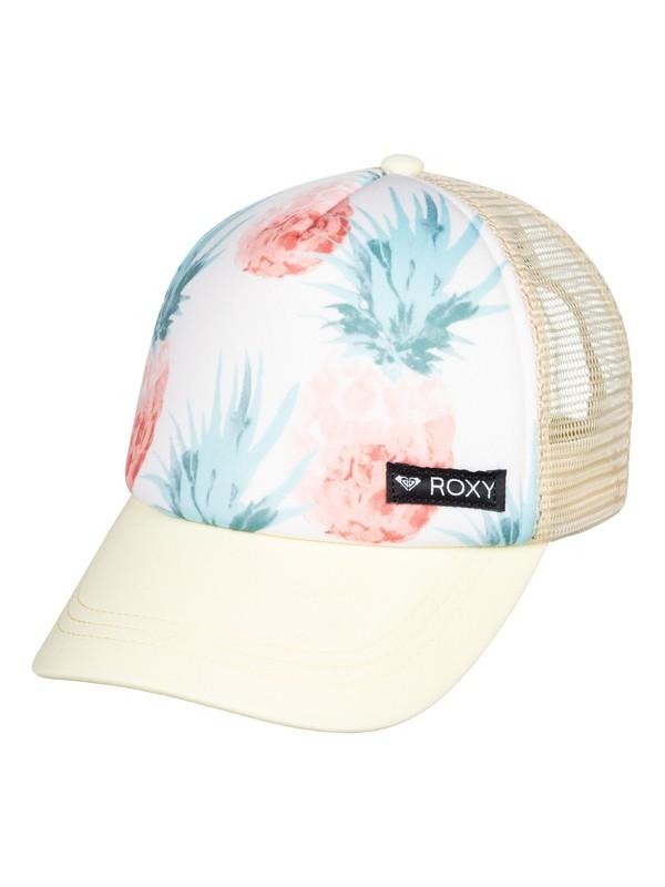 0 Girl's 7-14 Just Ok Trucker Hat White ERGHA03140 Roxy