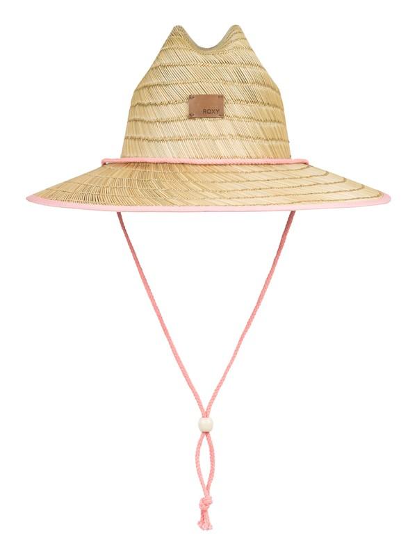 0 Girl's 7-14 Tomboy Straw Sun Hat Pink ERGHA03143 Roxy