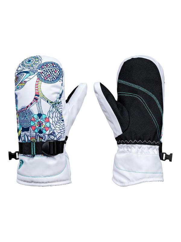 0 ROXY Jetty - Snowboard / Skihandschuhe für Mädchen 8-16 Weiss ERGHN03013 Roxy