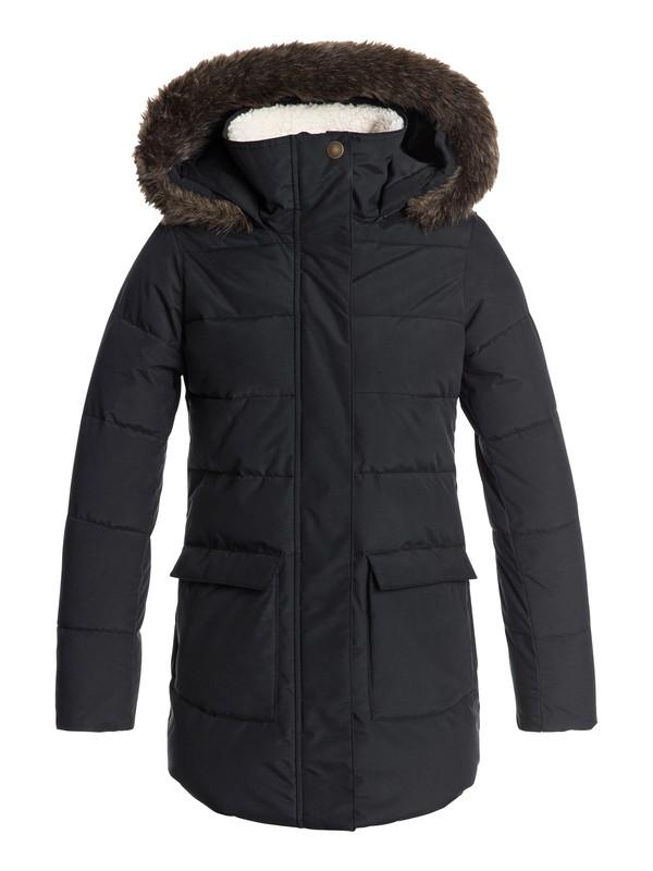0 Elsie - Doudoune longue à capuche imperméable pour Fille 8-16 ans Noir ERGJK03054 Roxy