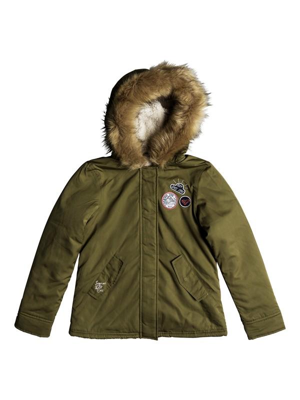 0 Feel The Sun - Military Hooded Parka for Girls 8-16  ERGJK03058 Roxy