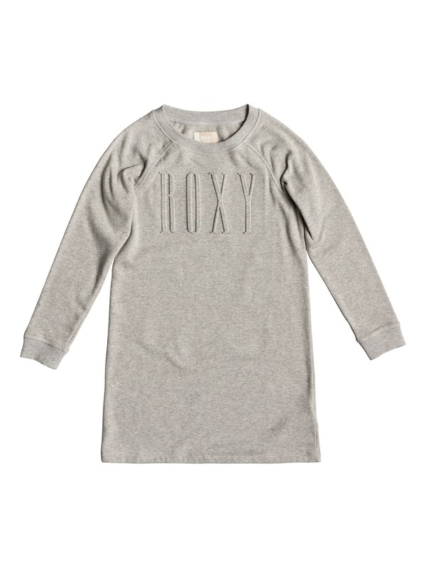 0 Wind Blew - Long Sleeve Dress for Girls 8-16 Grey ERGKD03072 Roxy
