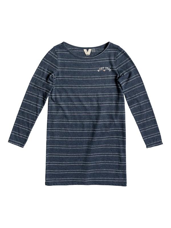 0 Girl's 7-14 Sweet Fruit Long Sleeve T-Shirt Dress Blue ERGKD03080 Roxy