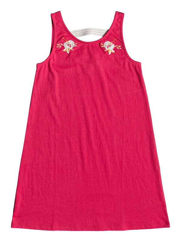0 Girl's 7-14 Leaves Movement Tank Dress Pink ERGKD03081 Roxy