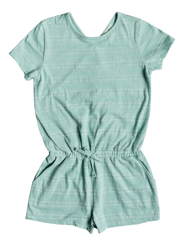 0 Girl's 7-14 Nice Evening Short Sleeve Romper Blue ERGKD03083 Roxy