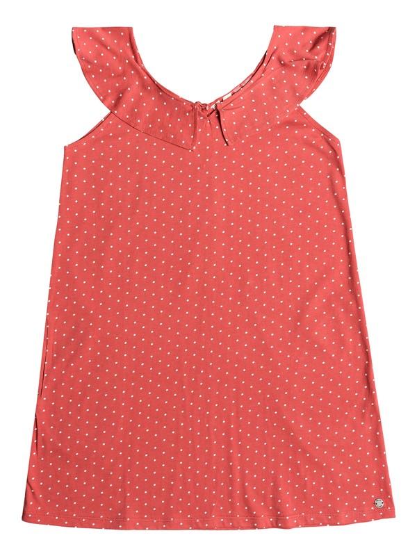 0 Girl's 7-14 Jungle Heart Ruffle Strap Dress Red ERGKD03092 Roxy