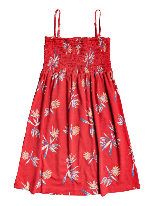 0 Girl's 7-14 Feathers In Flight Strappy Dress Red ERGKD03094 Roxy