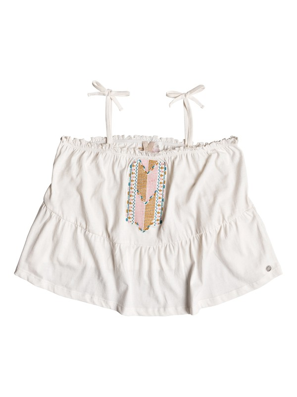 0 Girl's 7-14 Sweet Summer Strappy Top White ERGKT03081 Roxy