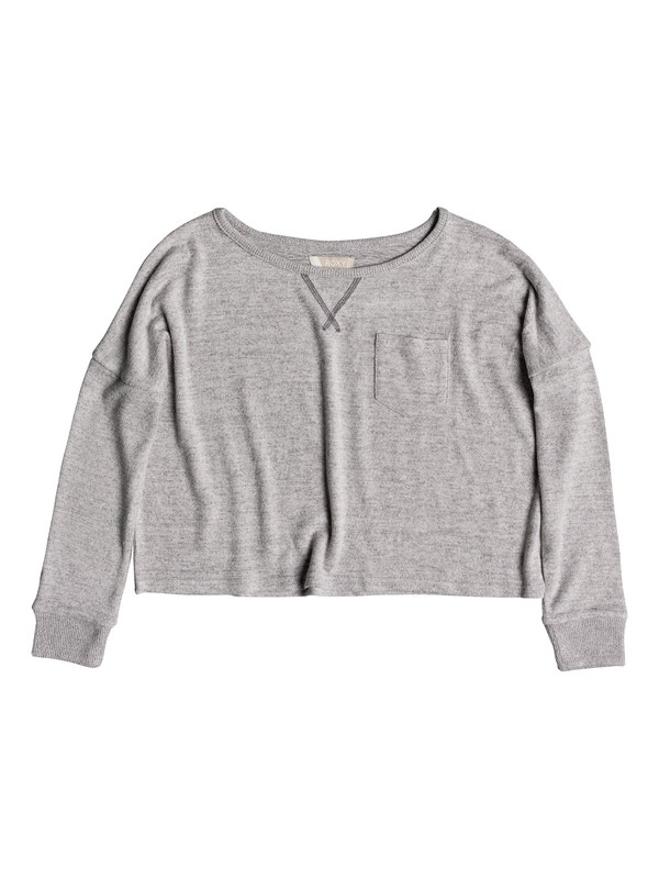 0 Girl's 7-14 Shimmering Light Sweatshirt Grey ERGKT03085 Roxy