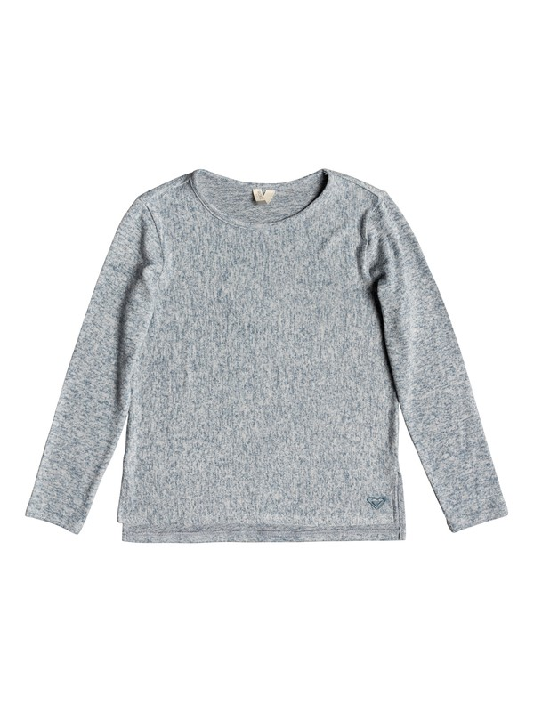 0 Girl's 7-14 Cosy Day Long Sleeve Top Blue ERGKT03110 Roxy
