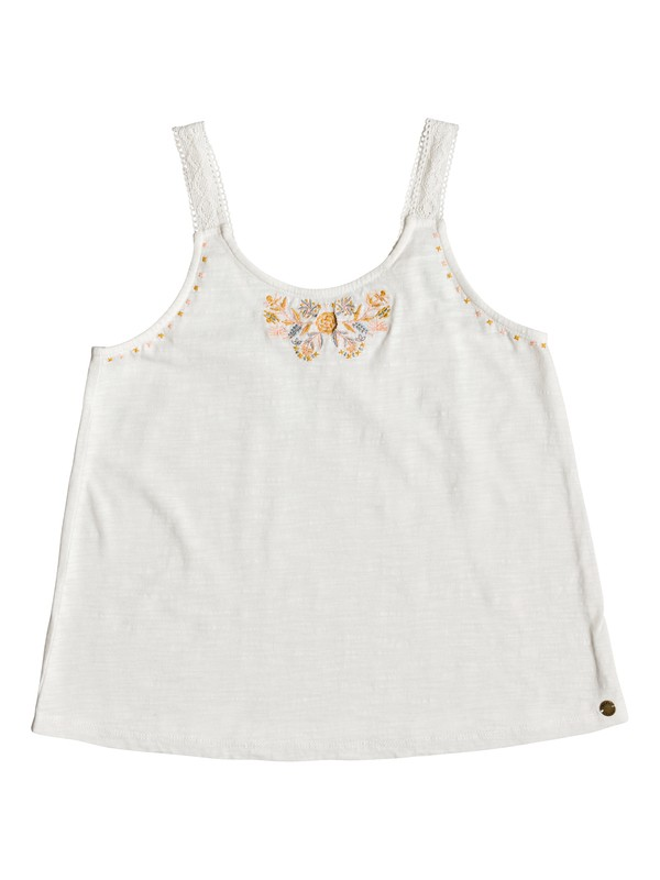 0 Girl's 7-14 Direction Of Love B Tank Top White ERGKT03113 Roxy
