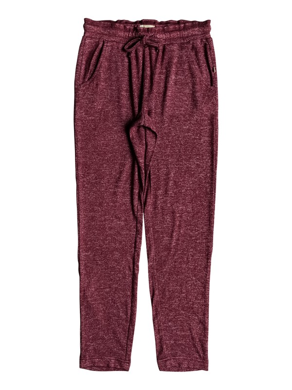 0 Girl's 7-14 Breath A New Day Joggers Red ERGNP03036 Roxy