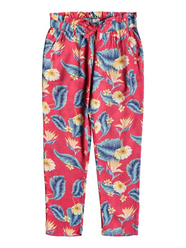 0 Happiest Day - Pantalon en viscose pour Fille 8-16 ans Rose ERGNP03048 Roxy