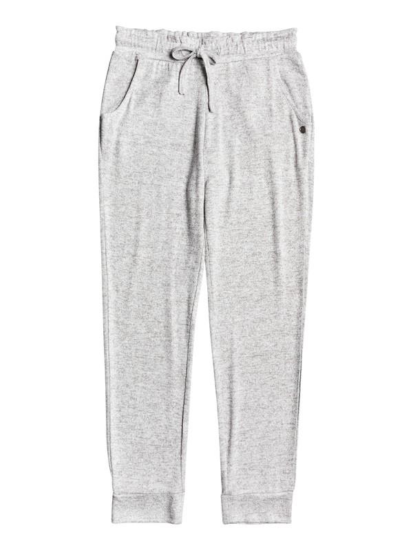 0 Secret Song - Pantalon de jogging doux pour Fille 4-16 Gris ERGNP03057 Roxy