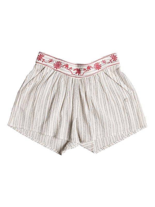 0 Girl's 7-14 Deeper Dive Beach Shorts White ERGNS03026 Roxy