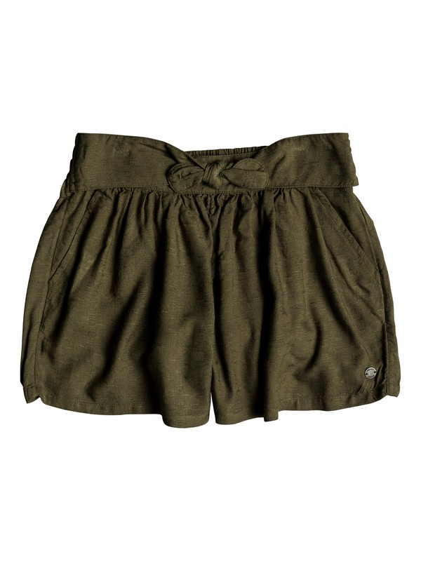 0 Girl's 7-14 Little Mind Beach Shorts Green ERGNS03030 Roxy
