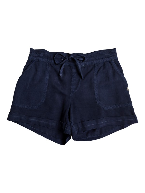 0 Girl's 7-14 Goldy Rain Cuff Shorts Blue ERGNS03037 Roxy