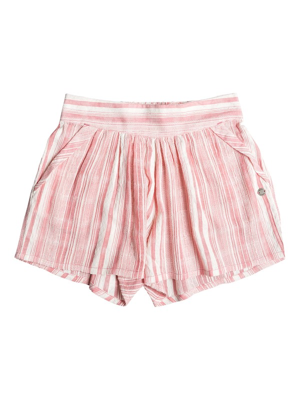 0 Girl's 7-14 Tree Leaves Beach Shorts Pink ERGNS03040 Roxy