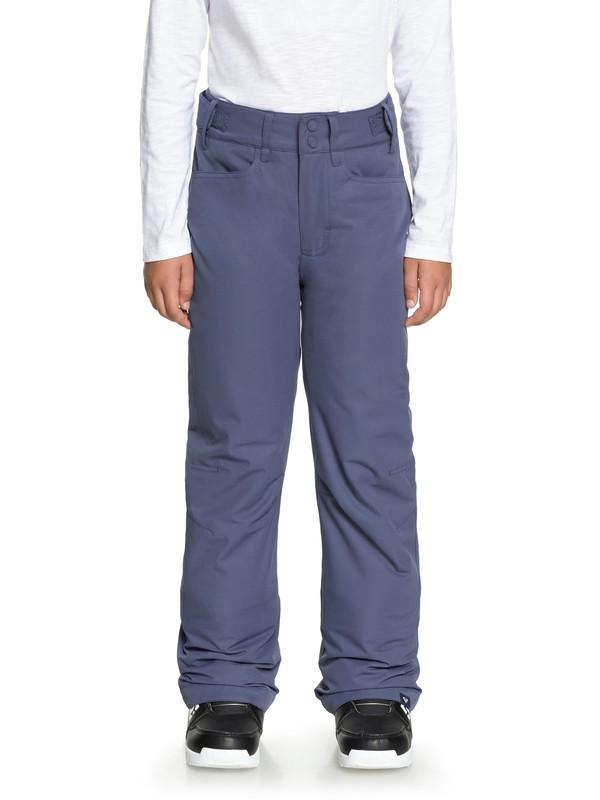 0 Backyard - Snow Pants for Girls 8-16 Blue ERGTP03015 Roxy