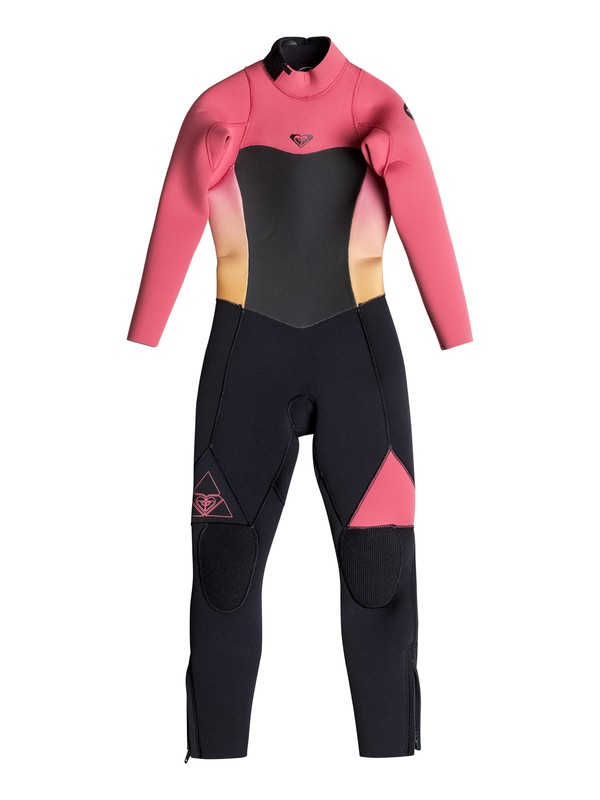 0 Girls 2-6 Syncro 4/3mm Back Zip Wetsuit Pink ERGW103005 Roxy