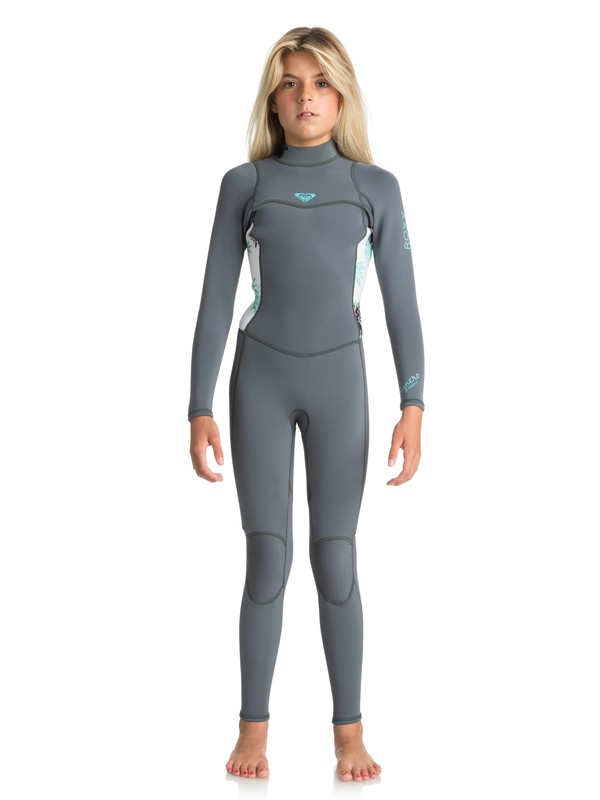 0 Girl's 7-14 3/2mm Syncro Series Back Zip Wetsuit Blue ERGW103012 Roxy