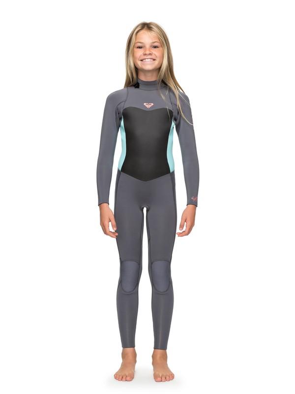 0 3/2mm Syncro Series - Traje de surf GBS con cremallera trasera para Chicas 8-16 Verde ERGW103013 Roxy