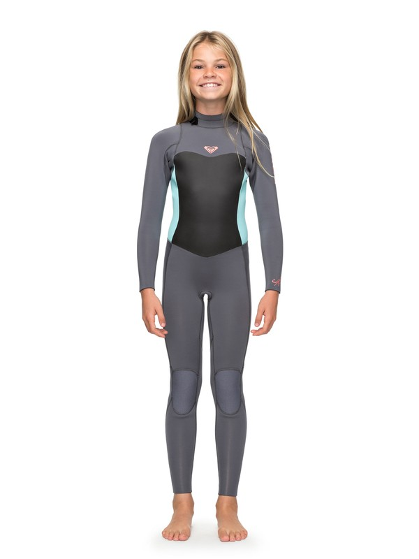 0 4/3mm Syncro Series - Back Zip GBS Wetsuit for Girls 8-16 Green ERGW103016 Roxy