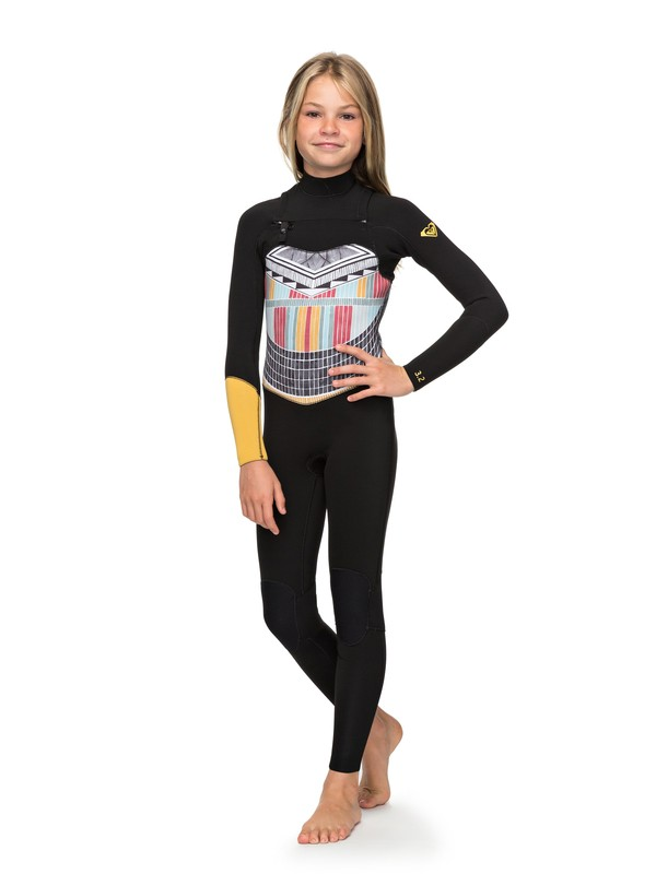 0 3/2mm POP Surf - Chest Zip Wetsuit for Girls 8-16 Black ERGW103019 Roxy