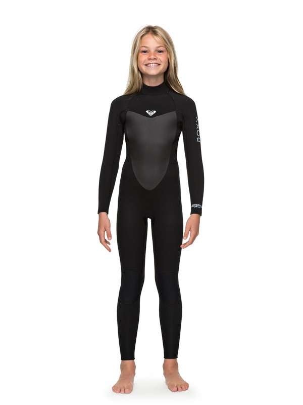 0 Girl's 7-14 3/2mm Prologue Back Zip Wetsuit Black ERGW103023 Roxy