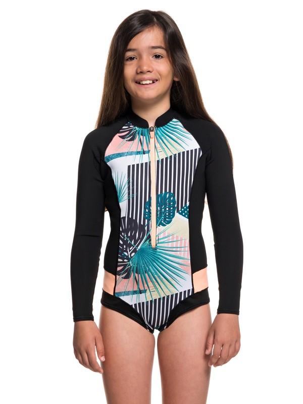 0 1mm POP Surf Long Sleeve Front Zip Bikini Cut Shorty Black ERGW403007 Roxy