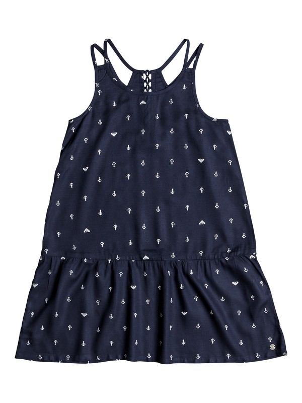 0 Girl's 7-14 Moments Of Time Strappy Dress Blue ERGWD03041 Roxy