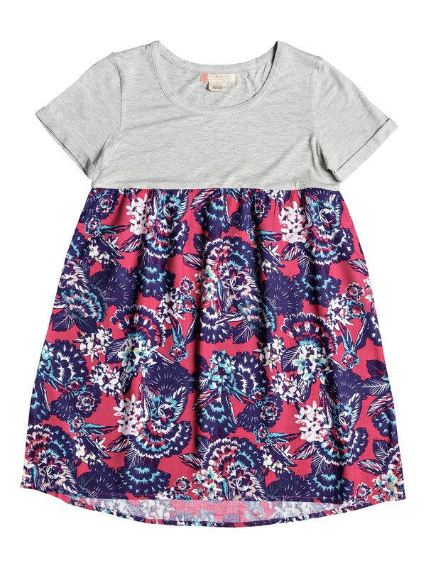 0 Branche Of Lilac - Robe tee-shirt pour Fille 8-16 ans Rose ERGWD03043 Roxy