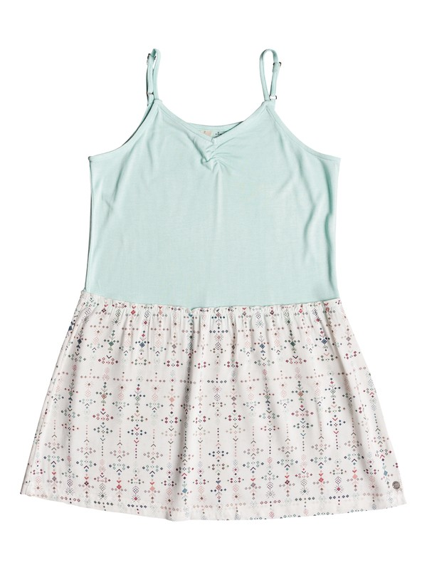 0 Girl's 7-14 Greatest Wish Strappy Dress White ERGWD03050 Roxy