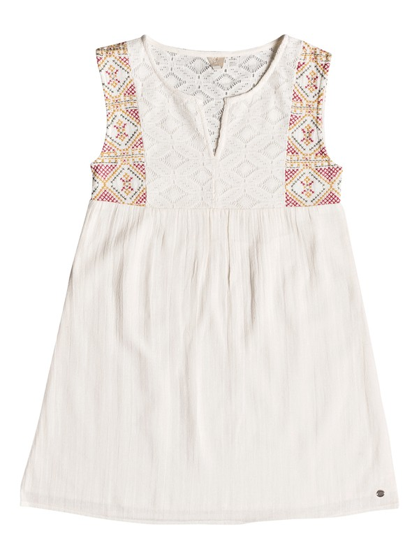 0 Girl's 7-14 Second Thought Tank Dress White ERGWD03055 Roxy
