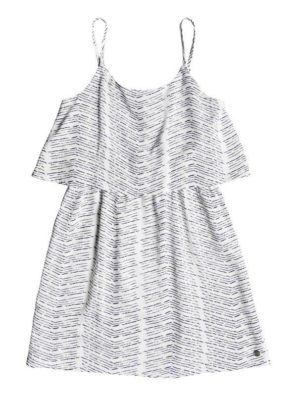 0 Girl's 7-14 Coldest Winter Strappy Dress White ERGWD03057 Roxy