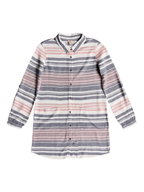 0 Girl's 7-14 Walk My Way Long Sleeve Shirt Dress Pink ERGWD03065 Roxy