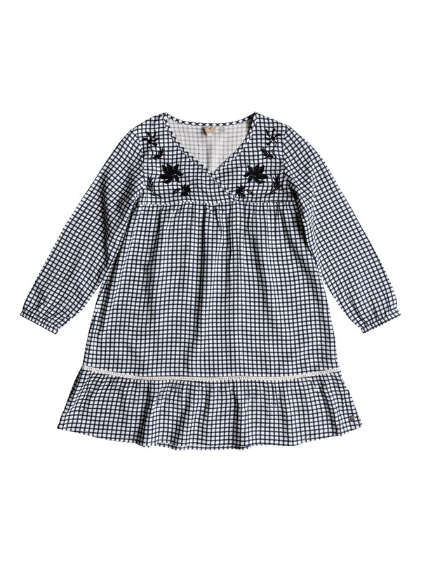 0 Girl's 7-14 September Song Long Sleeve Dress White ERGWD03067 Roxy