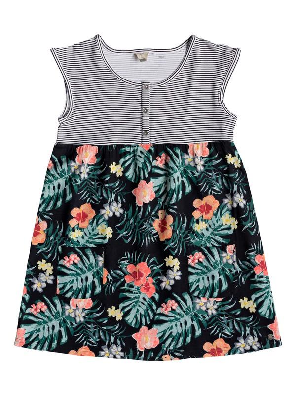 0 Girl's 7-14 Hey Mama Short Sleeve Dress Multicolor ERGWD03068 Roxy