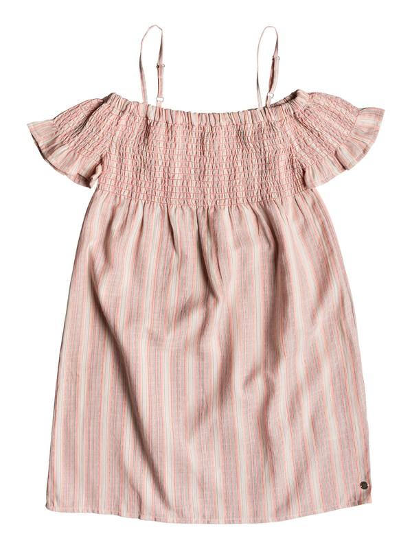 0 Girl's 7-14 Smocky Sun Off-The-Shoulder Dress Pink ERGWD03073 Roxy