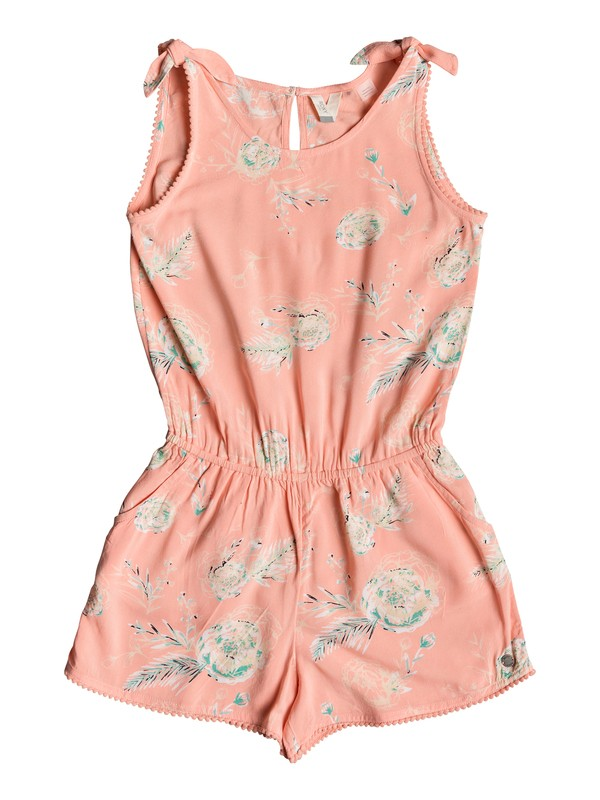 0 Girl's 7-14 Jungle Birds Strappy Romper Pink ERGWD03074 Roxy
