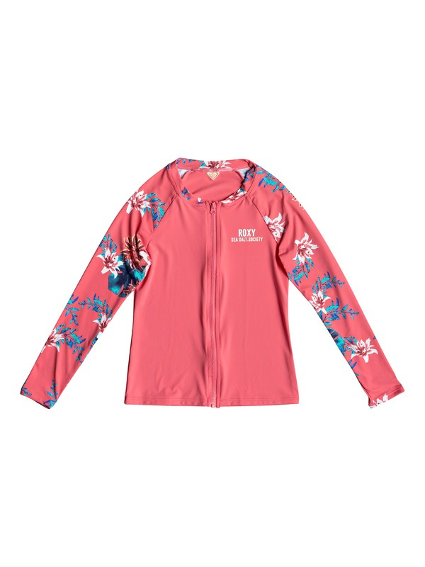 0 Girl's 7-14 ROXY Day Dream Long Sleeve UPF 50 Rashguard Pink ERGWR03116 Roxy