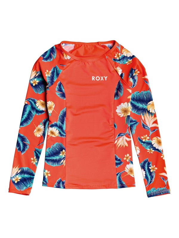 0 Girl's 7-14 ROXY Long Sleeve UPF 50 Rashguard Pink ERGWR03125 Roxy