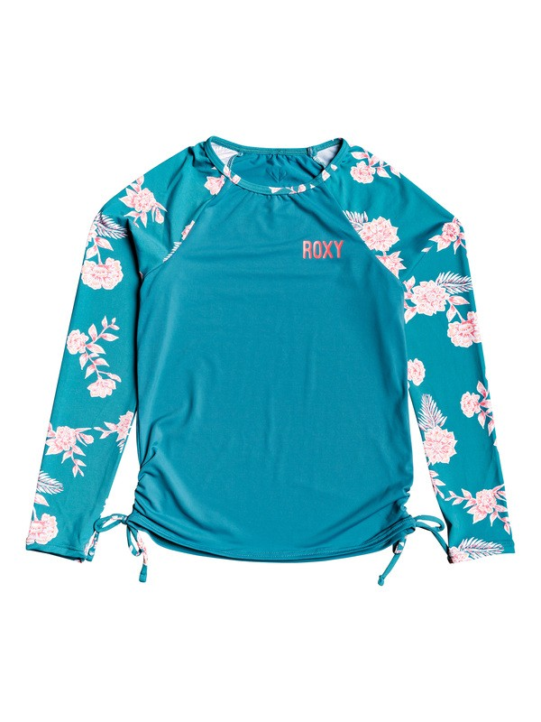 0 Girl's 7-14 Magical ROXY Long Sleeve UPF 50 Rashguard Blue ERGWR03135 Roxy