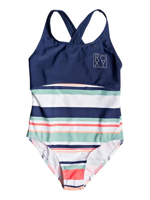 0 Girl's 7-14 Happy Spring One-Piece Swimsuit White ERGX103049 Roxy