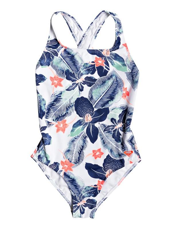 0 Girl's 7-14 In My Dreams One-Piece Swimsuit White ERGX103054 Roxy