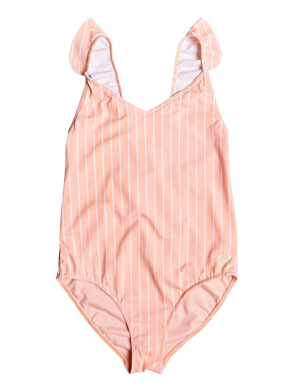 0 Girl's 7-14 Field Of Love One-Piece Swimsuit Pink ERGX103055 Roxy